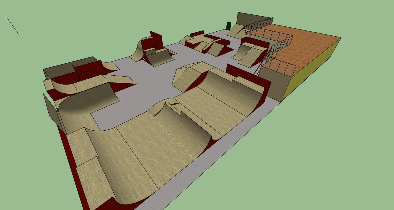 Redcar street phire for Indoor skatepark design uk